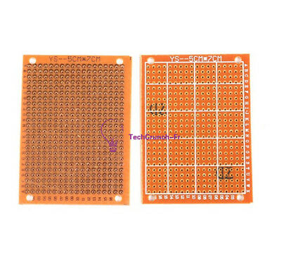 5PCS NEW 5 x 7 cm DIY Prototype Paper PCB fr4 Universal Board prototyping pcb