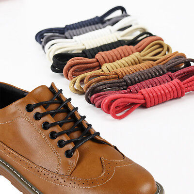 Fashion 60-180cm Round Shoe Laces Strings Waxed Cord Shoelaces Women Men Strong
