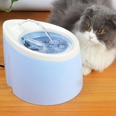Automatic Pet Cat Dog Fountain Electric Oxygen Filtration Water Feeder Dispenser