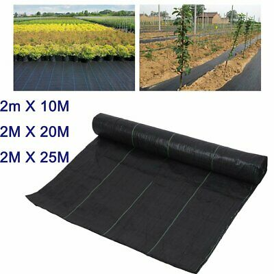 2X25M Wide HEAVY DUTY 100gsm Weed Control Fabric Ground Cover Membrane Landscape