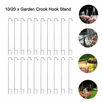 10/20pcs Gardman Shepherd's Crook Hook for Bird Feeders Garden Candle Lantern