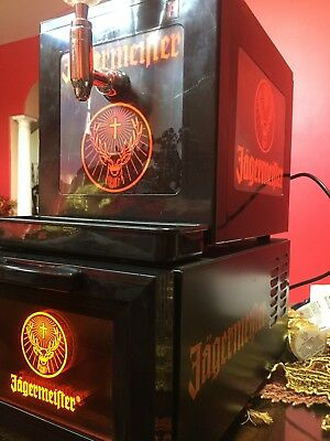 Jagermeister Tap Machine 3 Bottle Shot Dispenser USED WORKS PERFECT!! W/ COOLER!
