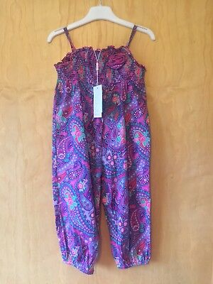 Monsoon Pink Paisley-patterned Playsuit Age 2-3