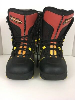 Bombardier Ski-doo Team Boots Red Black Yellow Men's Size 7 Snowmobile