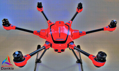 YUNEEC TYPHOON H - SKIN - NEON ROT / RED / Wrap / Decal / Foil / Folie / Drohne
