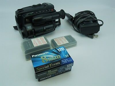 Vintage Sony Handycam Video8 CCD-TR6 Video Cassette Camera With Charger