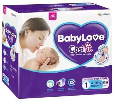 BabyLove Cosifit Nappies NEWBORN < 5kg - 99 Pack