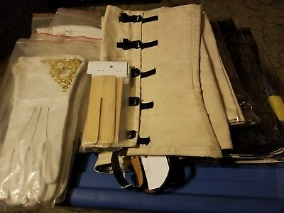 Civil War leather canteen sling, cavalry sling, gauntlets, gaiters-NEW