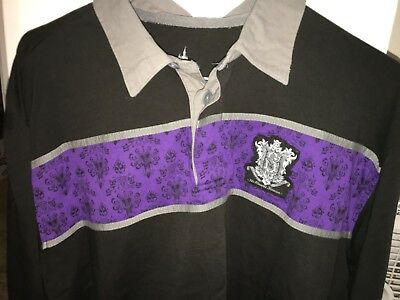 Disney Parks Halloween Haunted Mansion Long Sleeve Collared Shirt Size Large NEW