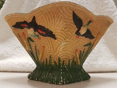 Antique handpainted Flying Duck Vase made in England
