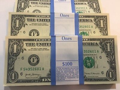 2013 100 New Uncirculated $1 Sequential BEP--Series 2013 Atlanta