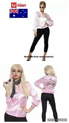 Pink Ladies Jacket 50s 1950's Grease Lady Satin Costume 50's Frenchie Rizzo AU