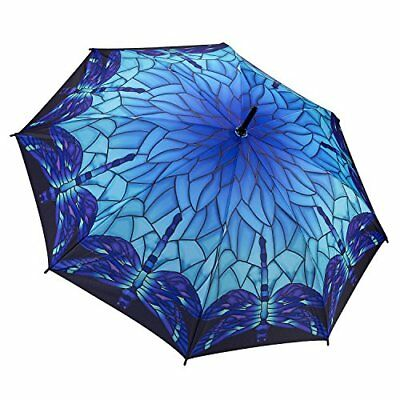 Galleria Stained Glass Dragonfly Stick Umbrella