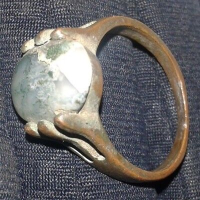 Roman legionary RING Ancient ring bronze RING with stone-Detector Find *AMAZING*