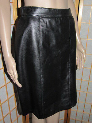 "Lavish Gorgeous Black Real Leather High Quality Supple Skirt Waist 28"" Hips 38"""