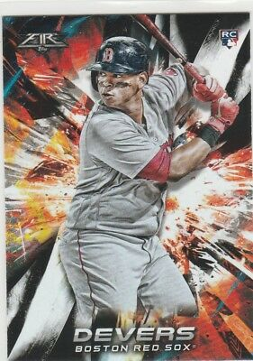 Rafael Devers 2018 Topps Fire Rookie Card #118 Boston Red Sox