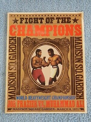 1971 - MUHAMMAD ALI v JOE FRAZIER OFFICIAL PROGRAMME - FIGHT OF THE CHAMPIONS