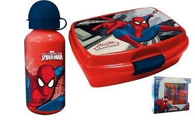 Portamerenda con BORRACCIA in ALLUMINIO - MARVEL SPIDERMAN