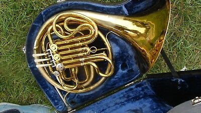 King   Double French Horn  Plays Great Compression Good Disinfected Made 1978-79