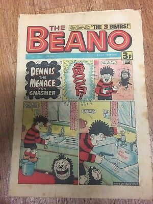 Beano Comic No 1686 November 9th 1974, Dennis the Menace, FREE UK POSTAGE