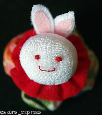 Japanese Kimono Fabric Beanbag Rabbit Hacky Sack Ornament Decor Plushie PlushToy