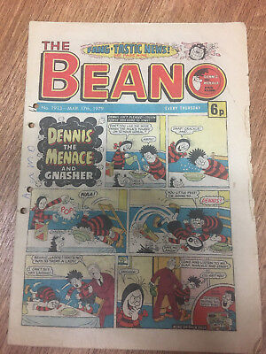 Beano Comic No 1913 March 17th 1979, Vintage Dennis the Menace, FREE UK POSTAGE