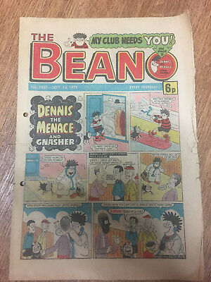 Beano Comic No 1937 September 1st 1979, Vintage Dennis the Menace, FREE UK POST