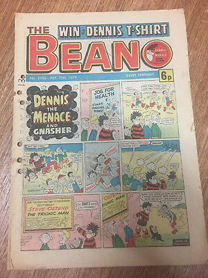 Beano Comic No 1908 Febuary 10th 1979, Dennis the Menace, FREE UK POSTAGE