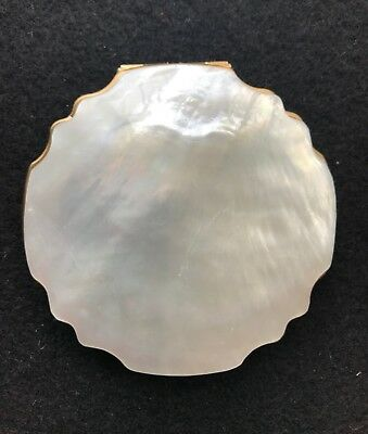 Vintage Stratton Mother Of Pearl Compact