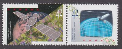 Canada 1992 #1442a Canada in Space - se-tenant pair MNH (hologram at right)