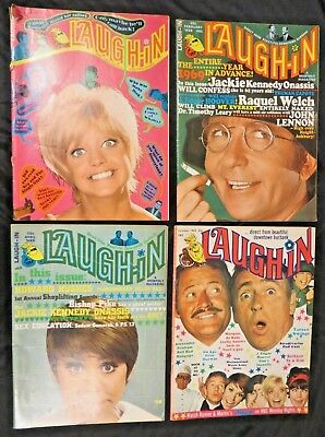 Laugh-In Vintage Monthly Magazine January, February & April 1969 + October 1968