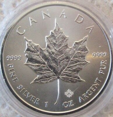 2016 Canadian Maple Leaf 1 oz Silver Bullion Coin(5)