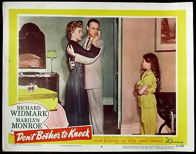 Marilyn Monroe Lobby Card Don't Bother To Knock 1952 Original USA #3