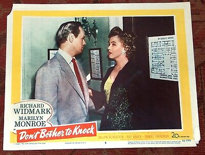Marilyn Monroe Lobby Card Don't Bother To Knock 1952 Original USA #5