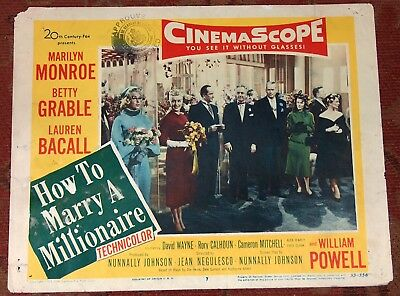 Marilyn Monroe Lobby Card How To Marry A Millionaire 1953 Original Betty Grable