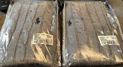 Pair Of Ralph Lauren Cable Knit Cushion Covers