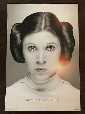 Star Wars Celebration Princess Leia / Carrie Fisher Tribute Poster 4680/8000