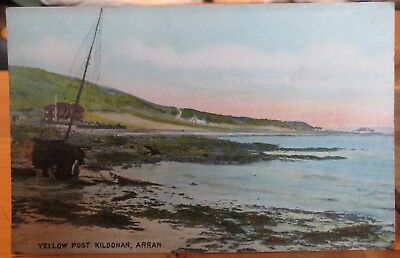 FISHING SMACK AT YELLOW PORT, KILDONAN, ISLE OF ARRAN c1911