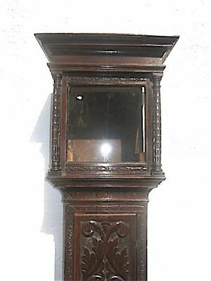 EARLY OAK LONGCASE CLOCK case for a  12x12 inch dial C1730