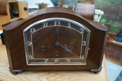 Art Deco  H.A.C. dual chime mantel clock.Westminster/Whittington.SEE VIDEO.