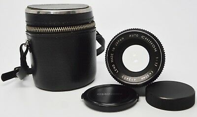 Vintage Auto Chinon 1:1.7 f=55mm Camera Lens Made in Japan with Lens Case