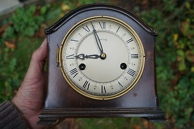 Compact Smiths mantel clock.with floating balance, Spares / restore