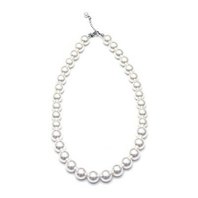 Kids Pearl Necklace Girls (White) Ecofriendly Synthetic-resin