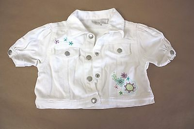 Koala Kids white super cute jacket 48 months boho Girls spring coat