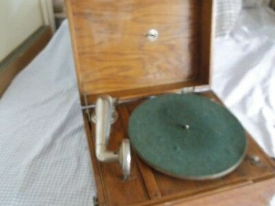 gramophone in a old wooden case