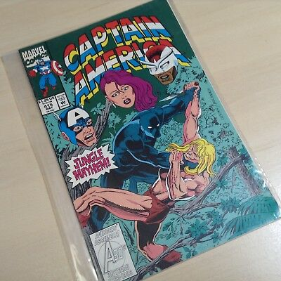 Captain America - Marvel Comics - Number 415 - 1993 -Jungle Mayhem Black Panther