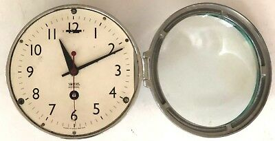 Vintage Smiths Astral maritime marine nautical chrome boat ships clock England