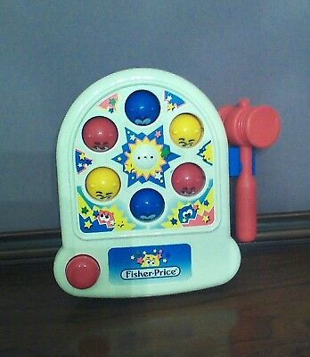 Pop-Up Wackaroos vintage 1992 Fisher Price 2401 Whack-A-Mole toy