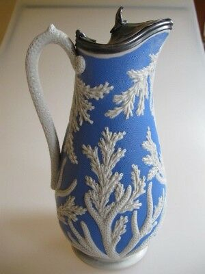 Antique Blue  Pitcher late 1800s, early 1900s, Original,  from England