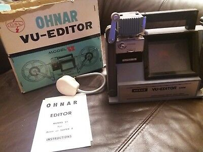 Vintage Ohnar Vu-Editor Model VI For 8mm Or Super 8
